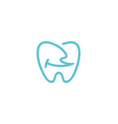 creative dental teeth smile logo vector image