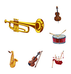 design of music and tune symbol set of vector image