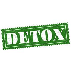 detox sign or stamp on white vector image
