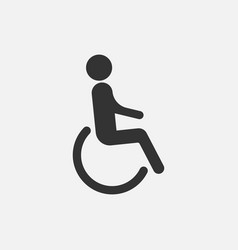 Disabled man sign isolated on white background vector