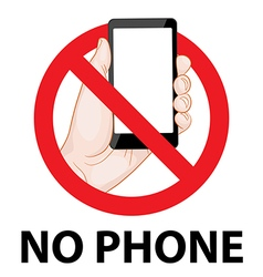 Dont use mobile phone signs vector