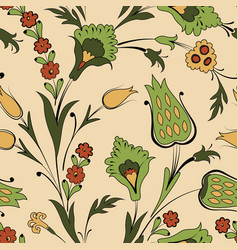 floral seamless pattern in retro oriental vector image