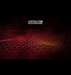 Futuristic hexagon futuristic vector