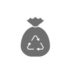 Garbage bag waste recycling bagful trash grey vector