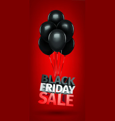 group of balloons sale message for shop vector image