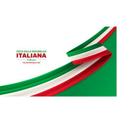happy italian republic day vector image