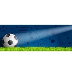 Header soccer on blue background vector