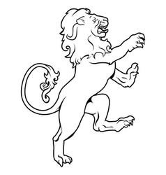 heraldic coat of arms lion vector image