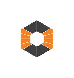 Hexagonal stripes way path logo vector