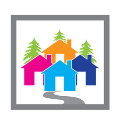 Houses village concept icon design vector