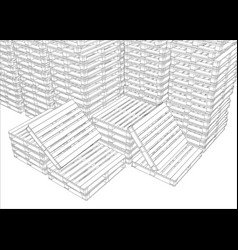 Image of pallets vector