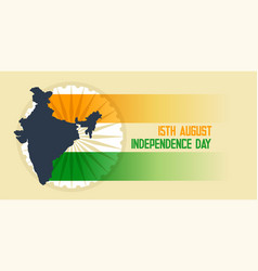 Indian flag and map independence day background vector
