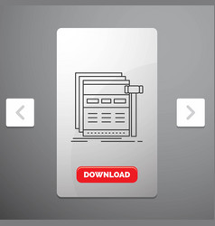 Internet page web webpage wireframe line icon in vector