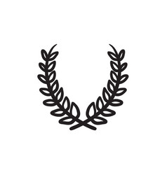laurel wreath sketch icon vector image