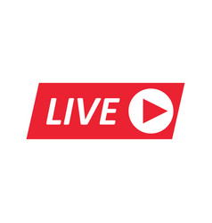 Live stream sign emblem logo vector