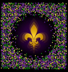 Mardi gras shrove tuesday fleur de lis surrounded vector