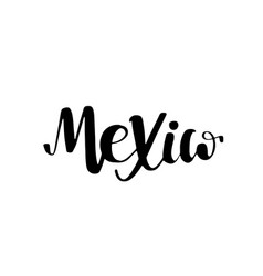 mexico lettering text phrase background with flag vector image