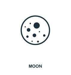 moon icon flat style icon design ui vector image