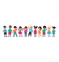multiethnic kids smiling preschool cute children vector image