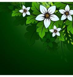 natural floral background vector image