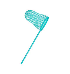 Net in turquoise design vector