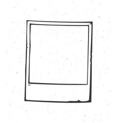 outline instant photo frame empty retro photo vector image