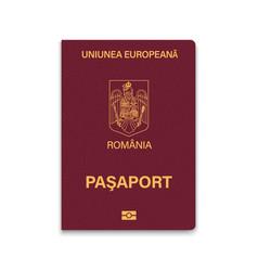 Passport romania vector