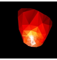 Polygonal red sky lanterns vector