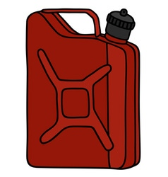 Red steel can vector
