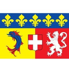 Rhone Alpes Region Flag vector image