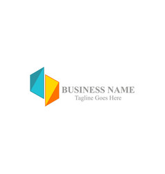 shape colored business logo vector image