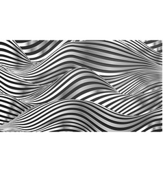 silver waves pattern stainless steel background vector image