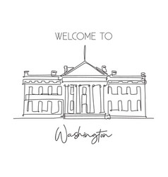 single continuous line drawing welcome to vector image