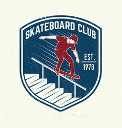 skateboarding club badge vector image