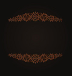 Steampunk frame template vector