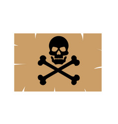 sticker skull with crossbones pirates poison vector image