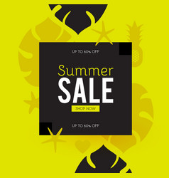 Summer sale poster template hot season offer vector