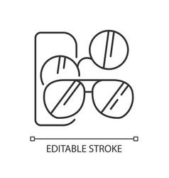 Sunglasses pixel perfect linear icon vector