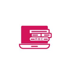 Tablet digital reading web site media smart vector