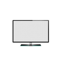 Tv flat screen lcd plasma led monitor isolated vector
