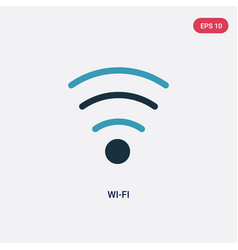 two color wi-fi icon from user interface concept vector image