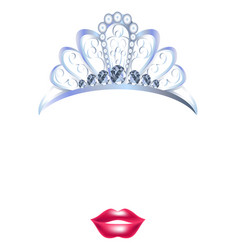 Video chat princess crown face selfie effect photo vector