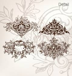 Vintage decorative elements vector