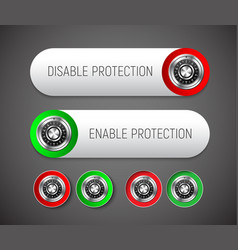 design a round and rectangular button with vector image vector image