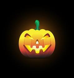 Halloween pumpkin smile vector