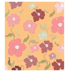 Poppy flowers pattern vector image vector image