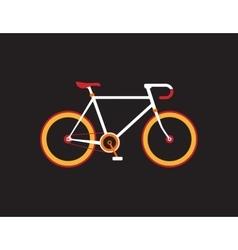 Retro bicycle on the dark background vector image