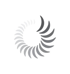 Abstract geometric circle waves icon simple style vector image vector image