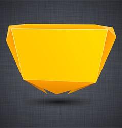 Announcement orange paper origami balloon vector image