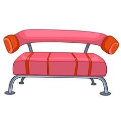 cartoon home furniture sofa vector image vector image